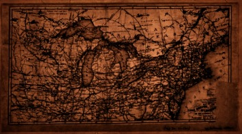 """Lionel Pincus and Princess Firyal Map Division, """"Map of the Lake Region, St. Lawrence Valley and surrounding country."""" New York Public Library Digital Collections."""